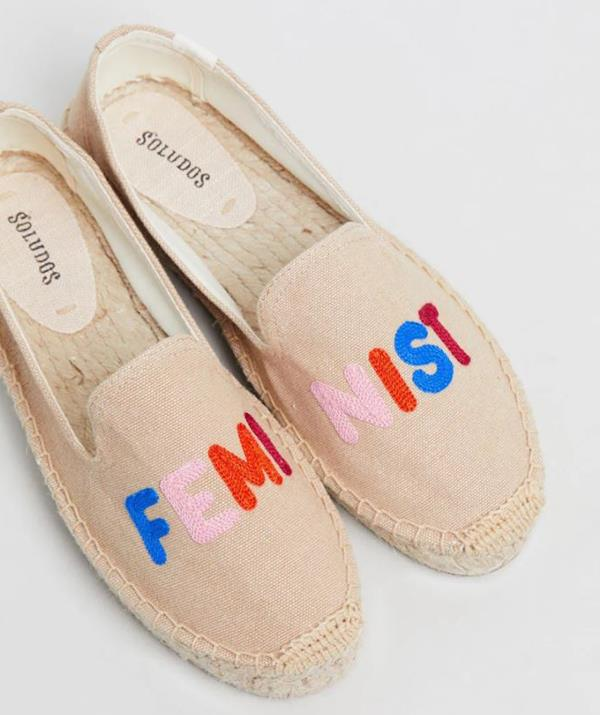 "Soludos Feminist Smoking Slippers, $129.95. Available [here](https://www.theiconic.com.au/feminist-smoking-slippers-777581.html|target=""_blank""