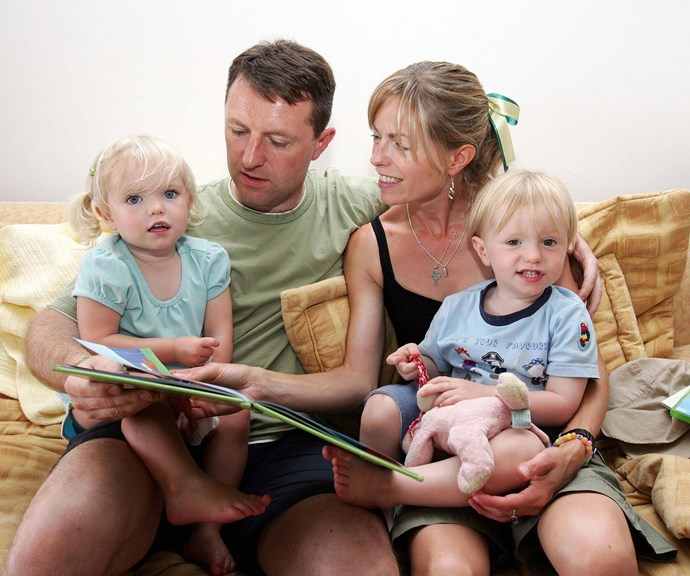 Kate and Gerry McCann with their twins Amelie (L) and Sean (R) pictured in *(Image: Getty)*
