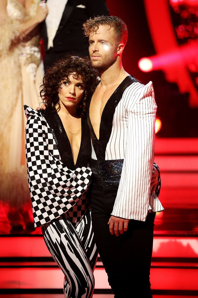 Olympia and her dance partner, Jarryd, were surprised by the elimination.