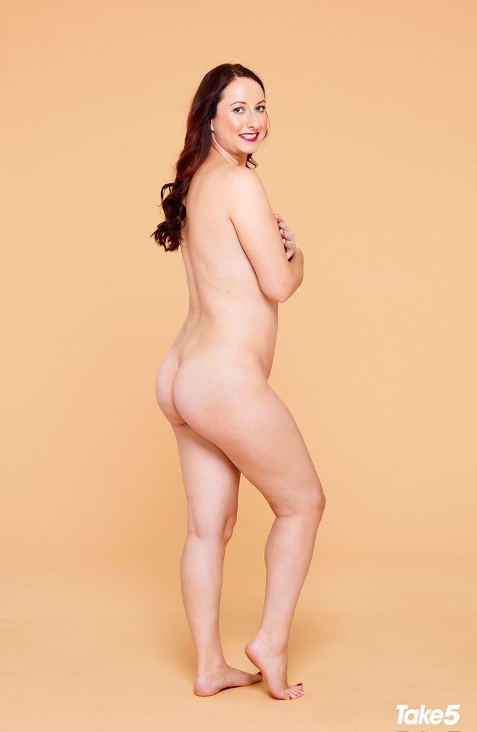 """Kaylie says, """"Curvier girls are sexy – and I'm happy to be one of them."""""""