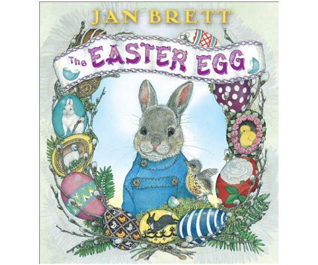 The delightful *The Easter Egg* by Jan Brett is perfect for children who've ever dreamed of helping the Easter Bunny. *Image: Supplied.*