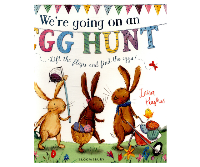 The addictive and interactive *We're Going on an Egg Hunt* by Laura Hughes is an Easter classic. *Image: Supplied.*