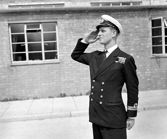 And finally, The Queen's husband Prince Phillip was a very handsome military man back in his heyday.