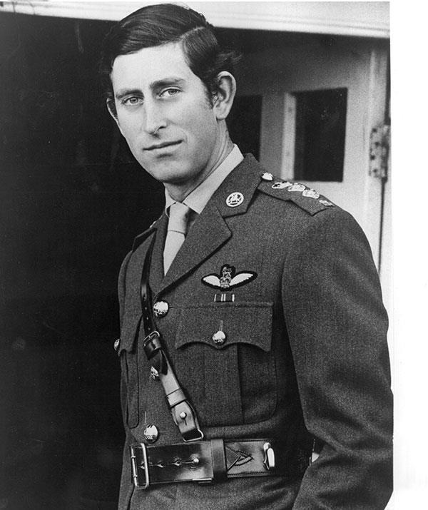 Prince Charles enjoys a break from the army during his 26th birthday celebrations in 1974.