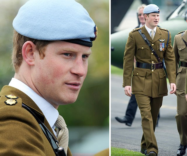 To celebrate his graduation from the Army Aviation Centre in 2010, Harry wore his Army Flying Corps blue beret and matching suit.