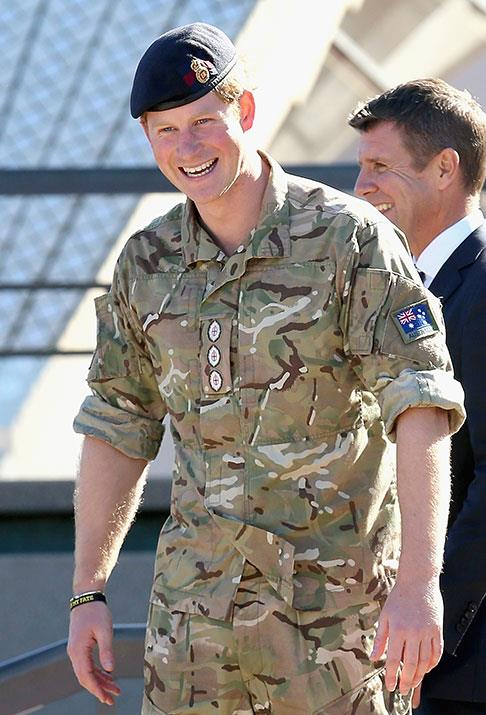 In 2015, a clean-cut Prince Harry dazzled on the steps of the Sydney Opera House clad in his camouflage-print army threads.