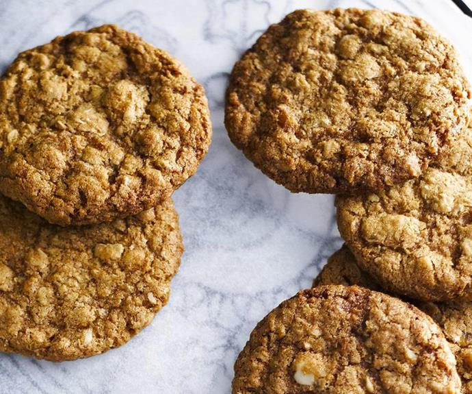"**Macadamia Anzac biscuits** <br><br> Take the traditional Anzac Day biscuit recipe, and add in crunchy Australian macadamia nuts and you'll have yourself a delicious sweet treat for any time of the year. <br><br> See the full *Australian Women's Weekly* recipe [here](https://www.womensweeklyfood.com.au/recipes/macadamia-anzac-biscuits-3215|target=""_blank"")."