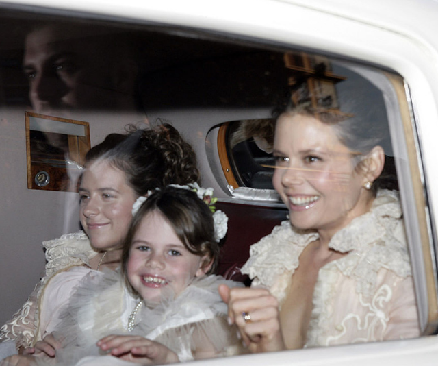 Antonia Kidman and Isabella Kidman Cruise arrive at St Patrick's College for the wedding of Urban and Kidman in 2006. *Image: Getty.*