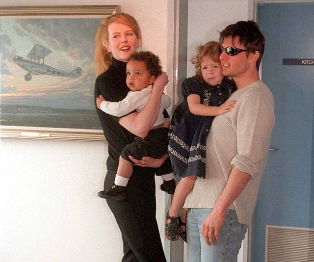 """From the minute Tom and I were married, I wanted to have babies. And we lost a baby early on, so that was really very traumatic. And that's when we would adopt Bella,"" Kidman told *Vanity Fair* in 2007. *Image: Getty.*"