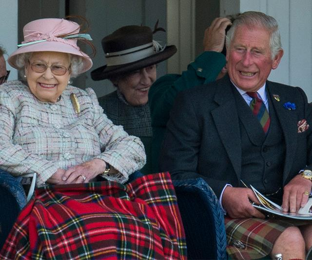 In more family twinning moments, Charles and Queen Elizabeth wore tartan in all kinds of shapes and sizes as they attended the Braemar Highland Gathering in 2017.