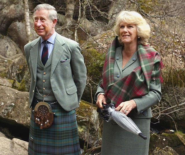 Couples who match together! Charles and Camilla are two peas in a pod when it comes to tartan. Their twinning moment was captured in May 2006 during a visit to the National Nature Reserve.