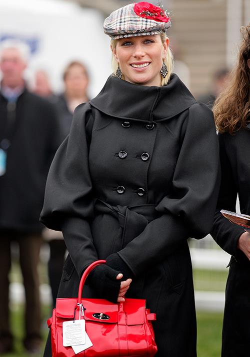 "Tartan goes next gen! [Zara Tindall](https://www.nowtolove.com.au/royals/british-royal-family/meghan-markle-christening-prince-harry-zara-tindall-54698|target=""_blank"") was snapped in March 2011 wearing a tartan edition atop her signature blonde chop at the Cheltenham Horseracing Festival."