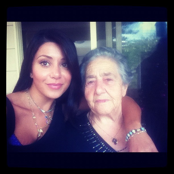 """With her grandmother, who she called her """"bestie"""". *(Image: Instagram)*"""
