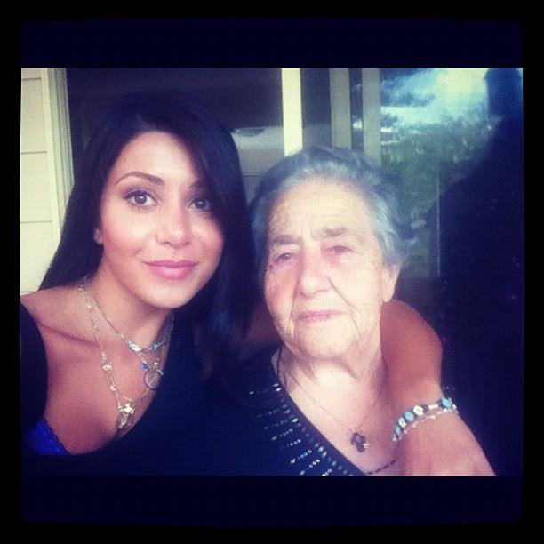 "With her grandmother, who she called her ""bestie"". *(Image: Instagram)*"