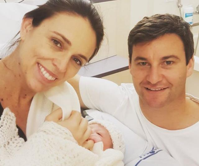 Jacinda Adern and Clarke Gayford welcomed daughter, Neve Te Aroha Ardern Gayford and now we're all in love!*Image: Instagram/JacindaAdern.*