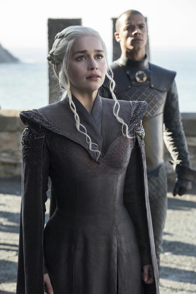 Emilia Clarke as Daenerys Targaryen on Game of Thrones. *(Image: HBO)*