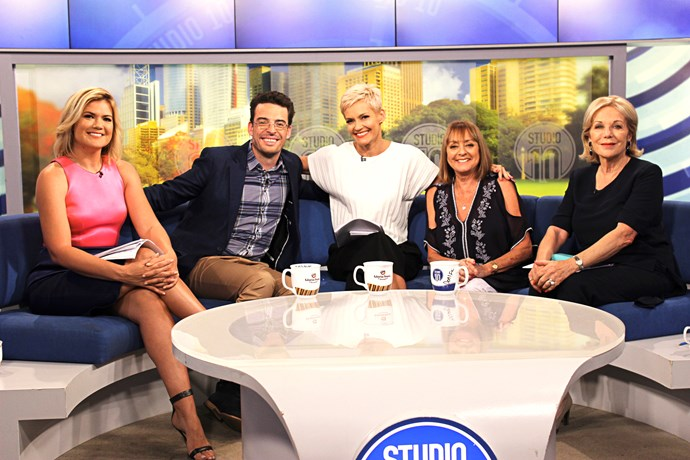 Denise with her *Studio 10* co-stars.