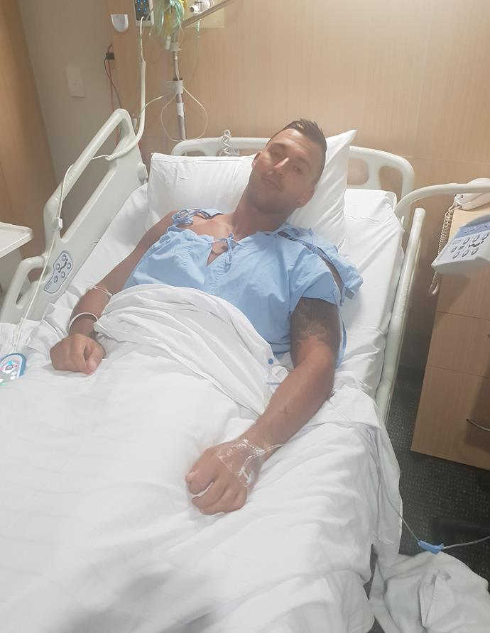 """""""It's exhausting,"""" Nic says of his chemotherapy (Image: Supplied)."""