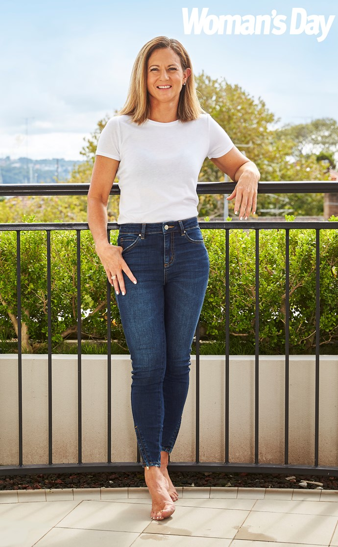 Natalie is now glowing with good health and is thrilled to be wearing her size 6 skinny jeans. *(Image: Supplied)*
