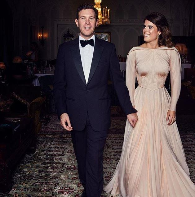 In an official portrait released by the Duke of York's Instagram account in October 2018, Princess Eugenie and Jack looked divine at their evening reception. *(Source: Instagram/hrhdukeofyork / Alex Bramell)*