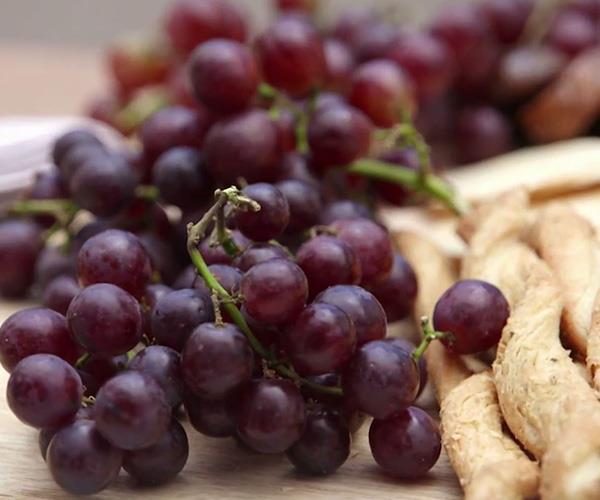 Grapes and everything! *(Image: Channel Nine)*