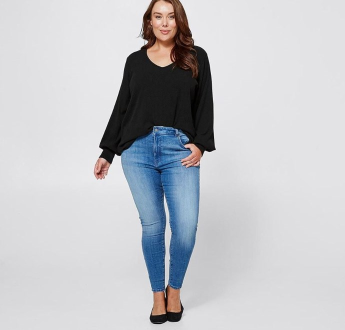 """Target Belle Curve Sophie Jeans, $39. Available [here](https://www.target.com.au/p/belle-curve-sophie-jeans-blue/61929715 target=""""_blank"""" rel=""""nofollow"""")."""