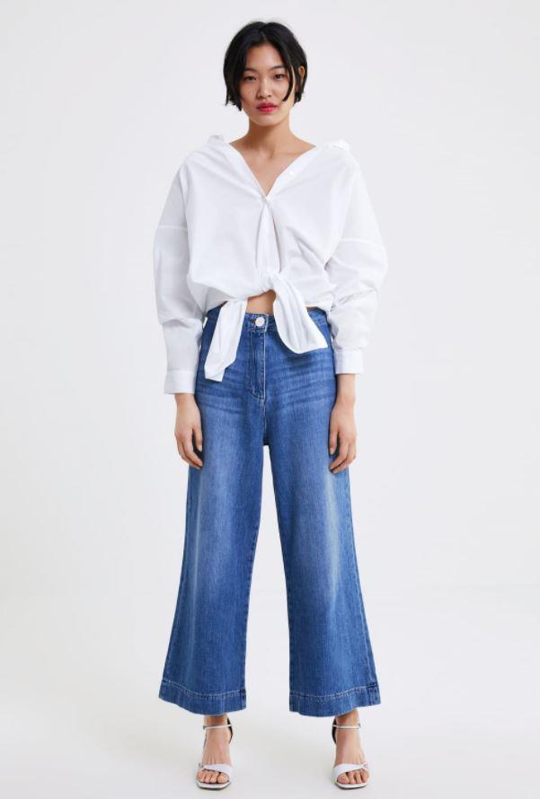 "Zara Marine Culotte, $69.95. Available [here](https://www.zara.com/au/en/jeans-zw-premium-marine-culotte-p02553041.html?v1=9374895&v2=1009606|target=""_blank""|rel=""nofollow"")."