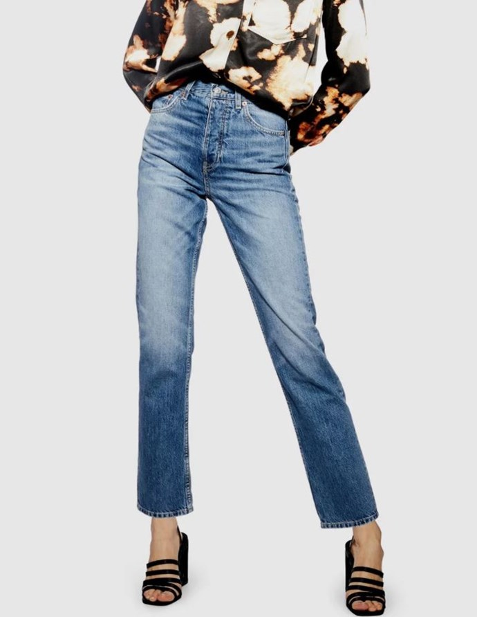 """Topshop Editor jeans, $99.95 (via The Iconic). Available [here](https://www.theiconic.com.au/editor-jeans-800077.html target=""""_blank"""" rel=""""nofollow"""")."""