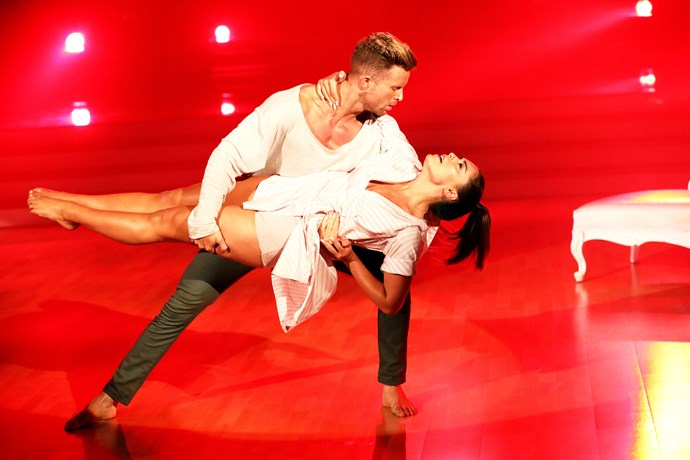 Olympia with her dance partner Jarryd.