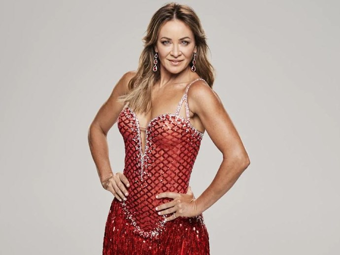 Michelle says her body has changed after weeks of intense dance training. *(Image: Channel 10)*