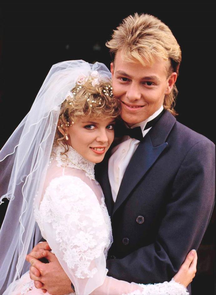 Jason with Kylie Minogue in his *Neighbours* days.