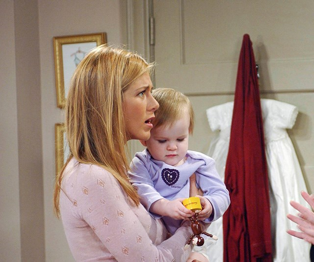 Remember the good old days where baby Emma was *actually* baby Emma on *Friends*? Yeah, those days are gone, folks. *(Image: Getty)*