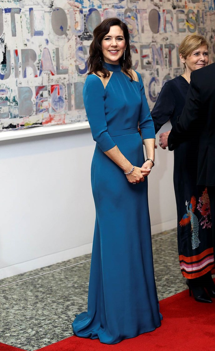 Princess Mary was a sight to behold on her whirlwind tour of Texas. *(Image: Getty)*