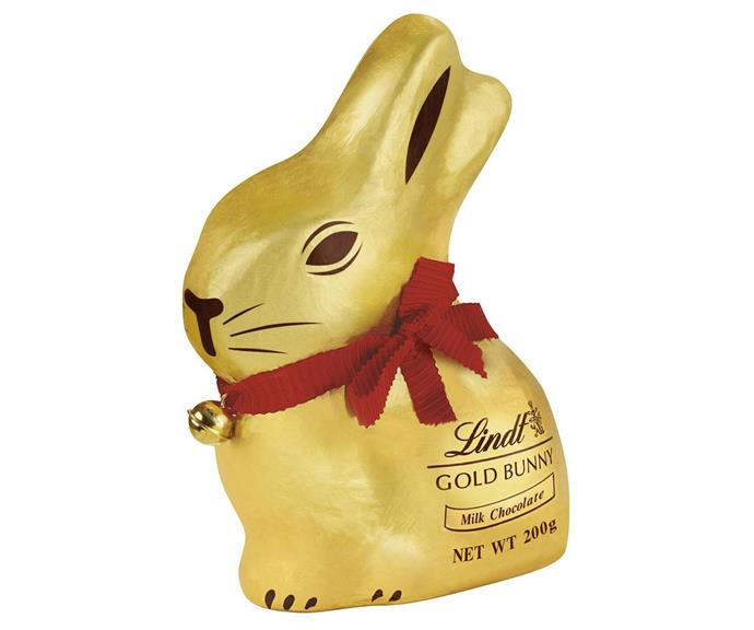 **Lindt Gold Bunny** <br><br> Everyone always assumes Lindt bunnies are outrageously expensive, but they're actually not too pricey! Save these gorgeous little treats for the extra-special people in your life. The packaging is gorgeous and makes the perfect gift for someone who deserves from extra lovin'.  <br><br> *$10, from Woolworths and Coles*