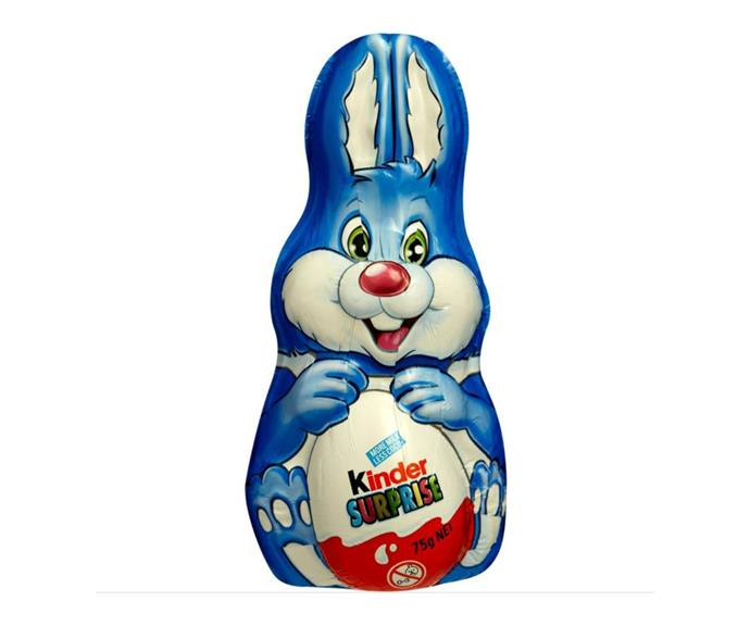 **Kinder Surprise Bunny** <br><br> The only thing better than a Kinder Surprise is a massive Kinder Surprise Bunny!  <br><br> *$5, from Woolworths and Coles*