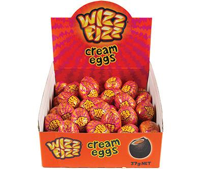 **Wizz Fizz Creme eggs** <br><br> Can you believe these actually exist?! Wizz Fizz and chocolate combined = the greatest junk food combination ever. We want 5000.  <br><br> *$1.40 each or $7.50 for a packet of six, from Woolworths and Coles*