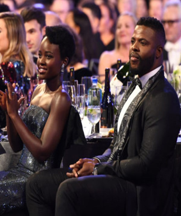Lupita N'yongo and Winston Duke attend the 24th Annual Screen Actors Guild Awards in 2018 *(Image: Getty)*