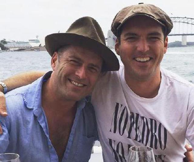 The Stefanovic brothers in happier times. *(Image: Instagram @peter_stefanovic)*