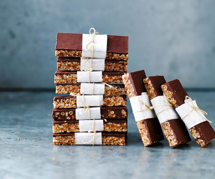 **No-bake Mars Bar slice:** Who says kids are the only ones to get to enjoy Mars Bar slice? Super-simple to make, this makes a great transportable treat to take along to any Mothers' Day celebration. *Image: Australian Women's Weekly.*