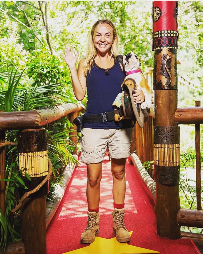 Angie was a popular contestant on *I'm a Celeb*. *(Source: Network Ten)*