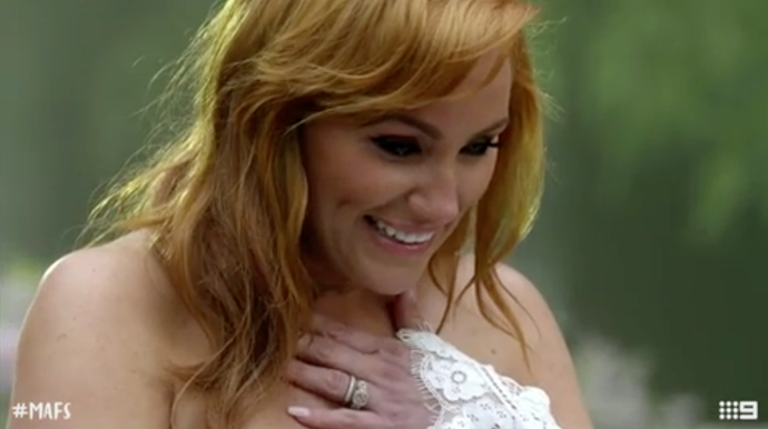 Jules was all of us during the proposal! *(Source: Channel 9)*