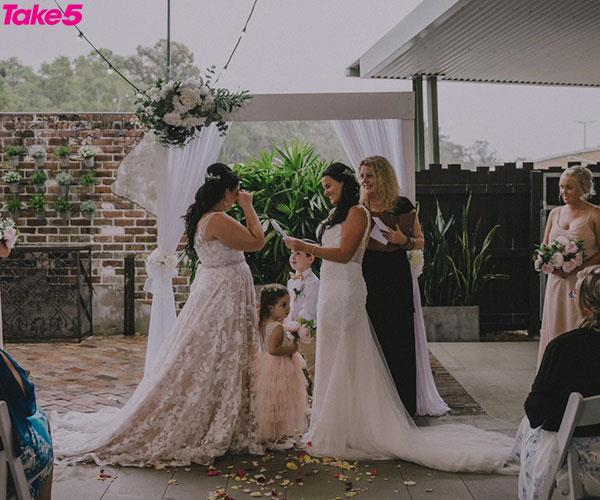 Our second ceremony was perfect