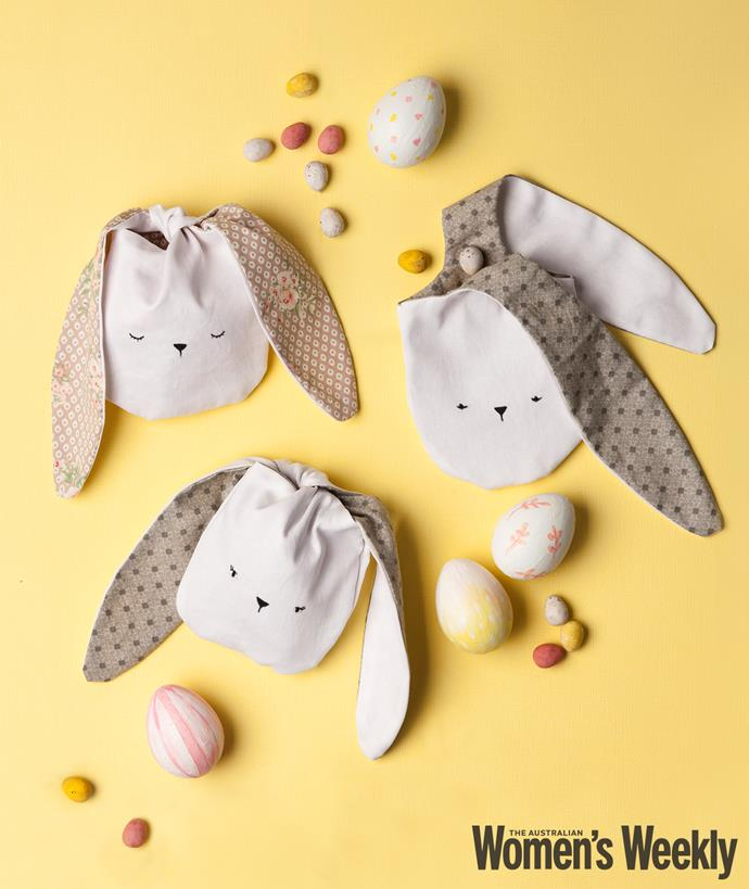 These Easter bunny bags will last for years to come.