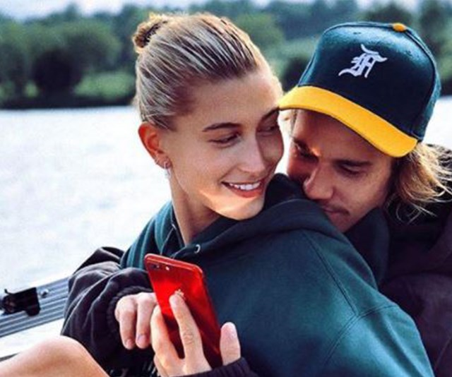 Justin and Hailey Bieber have confused fans with a pregnancy announcement on April Fools Day. *(Image: Instagram)*