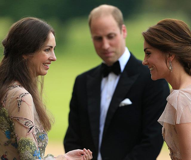 William and Catherine chat to Rose as she hosts a gala dinner to support East Anglia's Children's Hospices at Houghton Hall in 2016. *(Image: Stephen Pond/Getty Images)*
