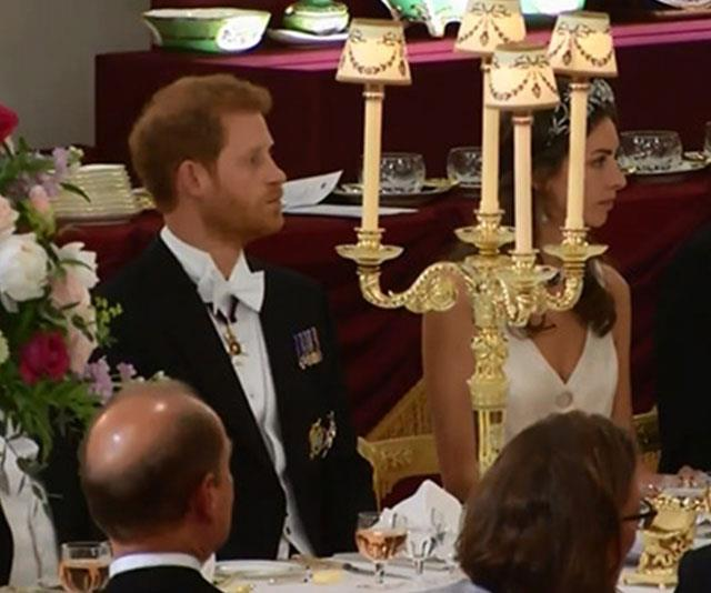 Rose was seated next to Prince Harry at the State Opening of Parliament in 2017. *(Image: ITV)*