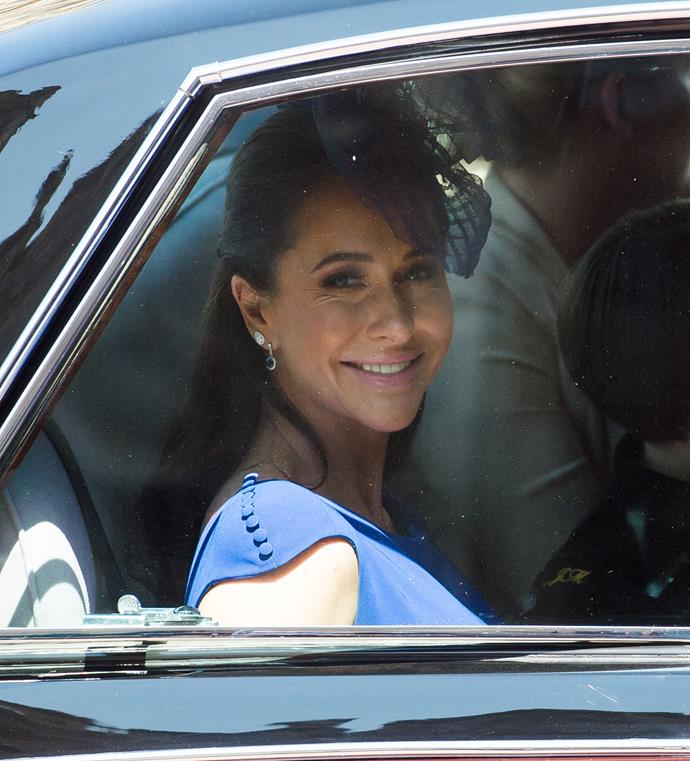 Jessica arrived at Harry and Meghan's wedding. *(Image: Getty)*