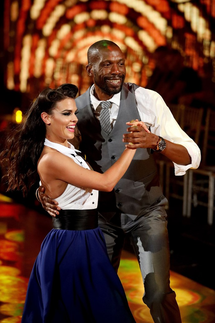 Curtly and his dance partner Siobhan (Image: Network 10).