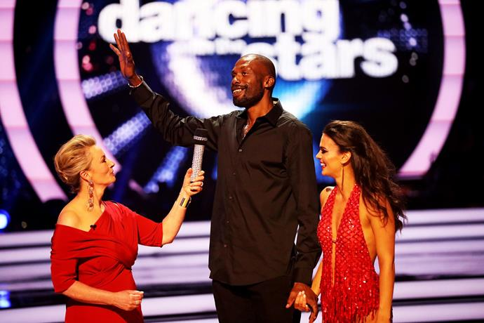 Curtly was eliminated from *DWTS* on Monday night (Image: Network 10).