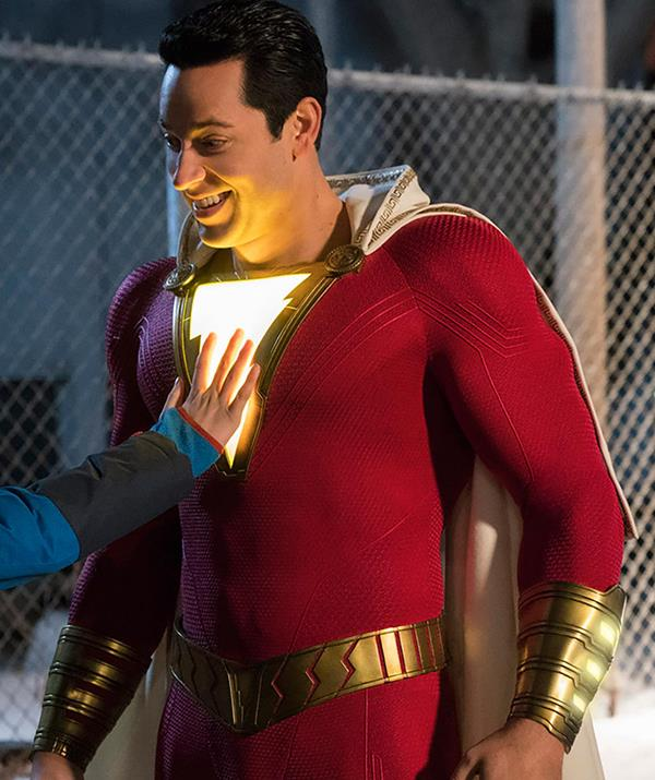 Zachary Levi stars as the superhero alter-ego Shazam. *(Image: Warner Bros. Entertainment)*